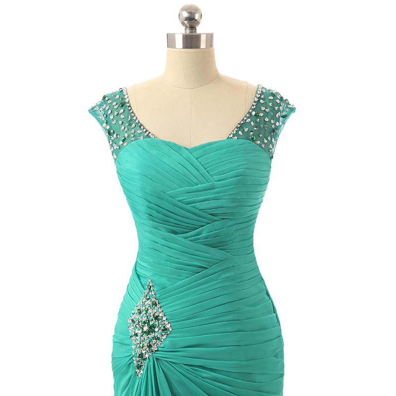 Solovedress Elegant Арзан Green Mermaid ұзын кешкі - Ерекше жағдай киімдері - фото 5