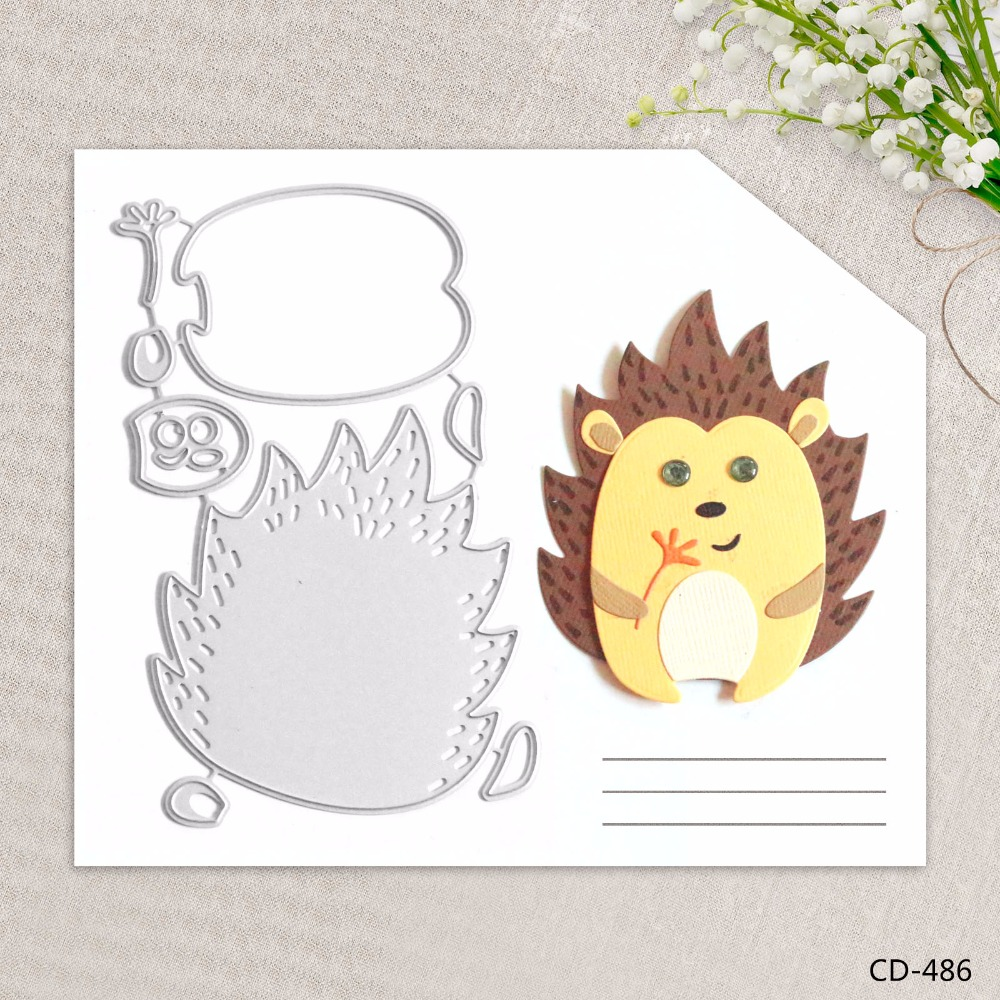 Zhuoang Metal Cutting Dies Beautiful Hedgehog Seal for DIY Scrapbooking Photo Album Card Making DIY Decoration Supply zhuoang beautiful wooden rubber clear stamps and cutting dies set for scrapbooking photo album card making diy decoration supply