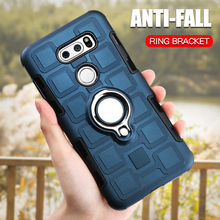 Luxury Armor Case For LG V30 K40 K12 Plus Shockproof Phone Cover Silicone Anti-Fall Hard Back