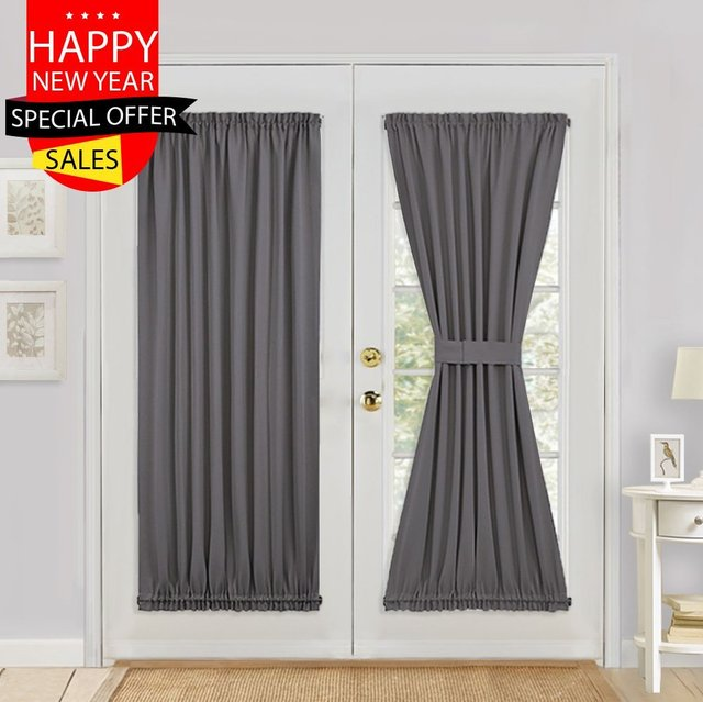Captivating Blackout Rod Pocket Door Panel For French Door Sliding Glass Door Curtain  One Panel   Room