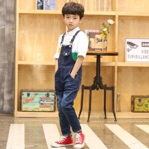 Image 5 - Macacão infantil, macacão jeans para meninos e meninas, bolsos de cowboy de primavera e outono, 2 2020 15t