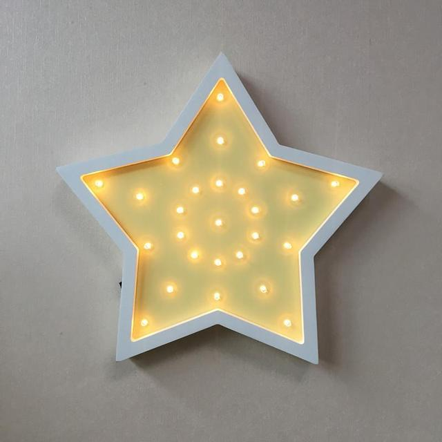 Us 3657 6 Offnovelty Wall Lights For Home Wooden Stars Strange Children Gifts Lights Powerbank 3d Light Fixtures Luminaria Led Kids Lamp In Led