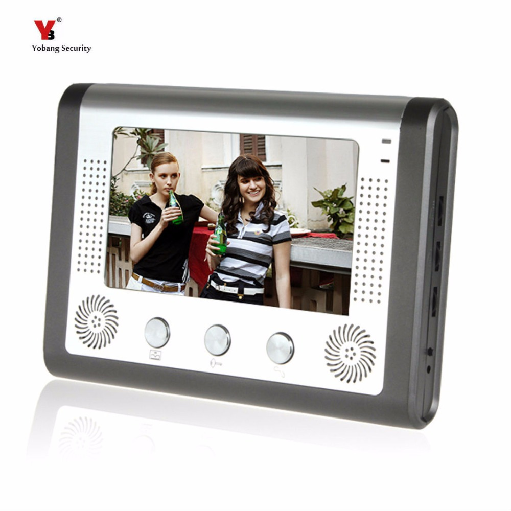 Yobang Security 7 LCD Screen Indoor Monitor For Video Intercom Doorphone Only Indoor Unit Not Include Outdoor Unit 7 inch video doorbell tft lcd hd screen wired video doorphone for villa one monitor with one metal outdoor unit night vision