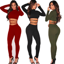 2 piece outfits for women tracksuit streetwear sexy crop tops and pants casual bodycon leggings sets