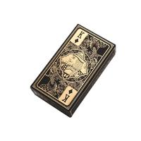 Luxury Poker Sex Toy Waterproof Transparent Gold Edge Playing Cards Dragon Card Fun Game