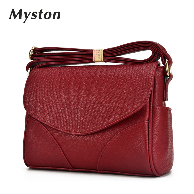 купить MYSTON Brand luxury Flap bags crossbody Bags cow leather clutches bag bolsos women bolsa feminina shoulder messenger bag Female недорого