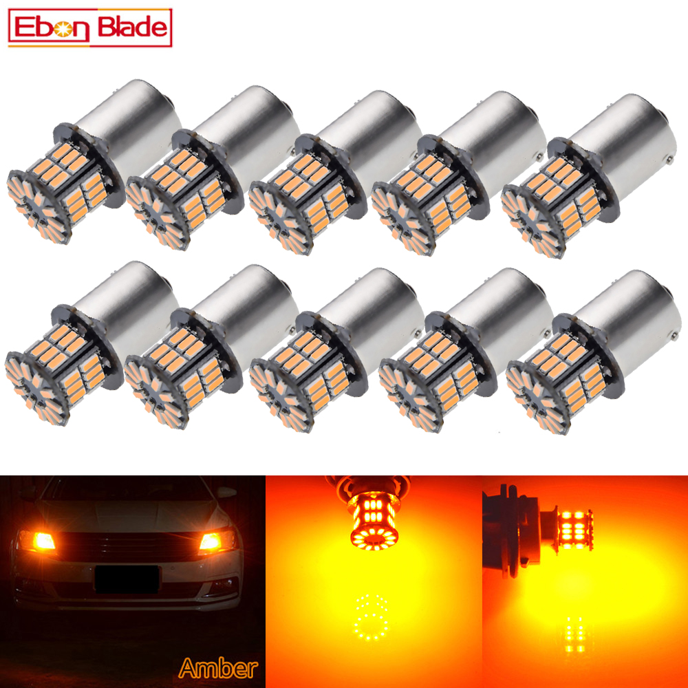 Image 1 - 10 X Car LED BAU15S 1156PY RY10W PY21W 7507 1156 BA15S P21W Amber Orange Yellow DRL Turn Signal Light Bulb Lamp 12V Auto Styling-in Signal Lamp from Automobiles & Motorcycles