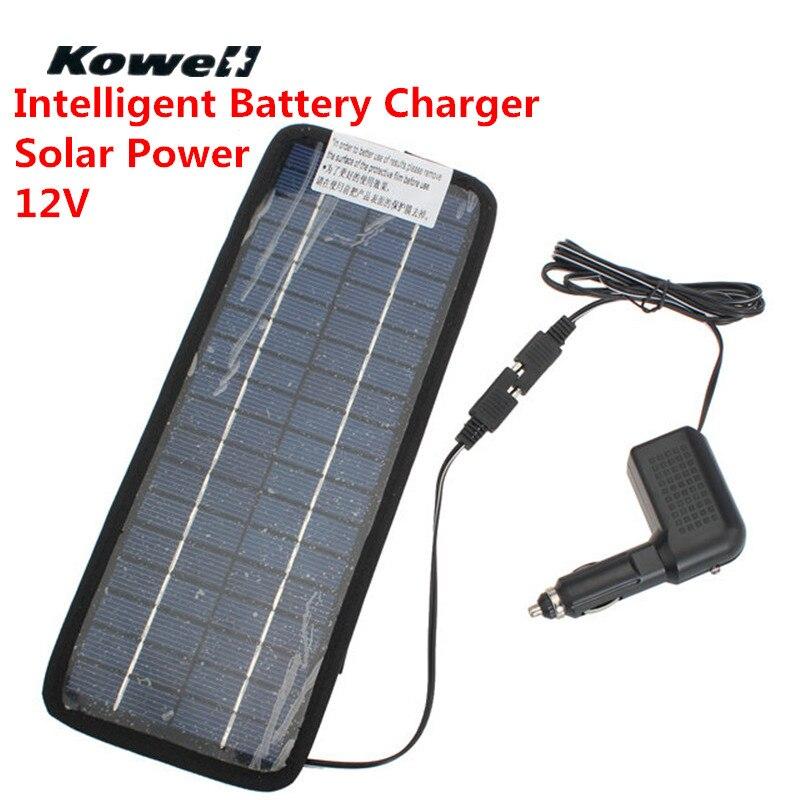 KOWELL 12 V panneau d'alimentation solaire Intelligent Auto voiture chargeur de batterie rapide chargeur chargeur de Souer pour voiture batterie énergie solaire