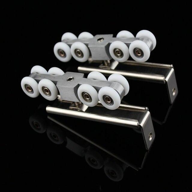 1 paarsatz glas schiebetr hngen metall stahlrdern fr glas schiebetren - Duschtur Rollen