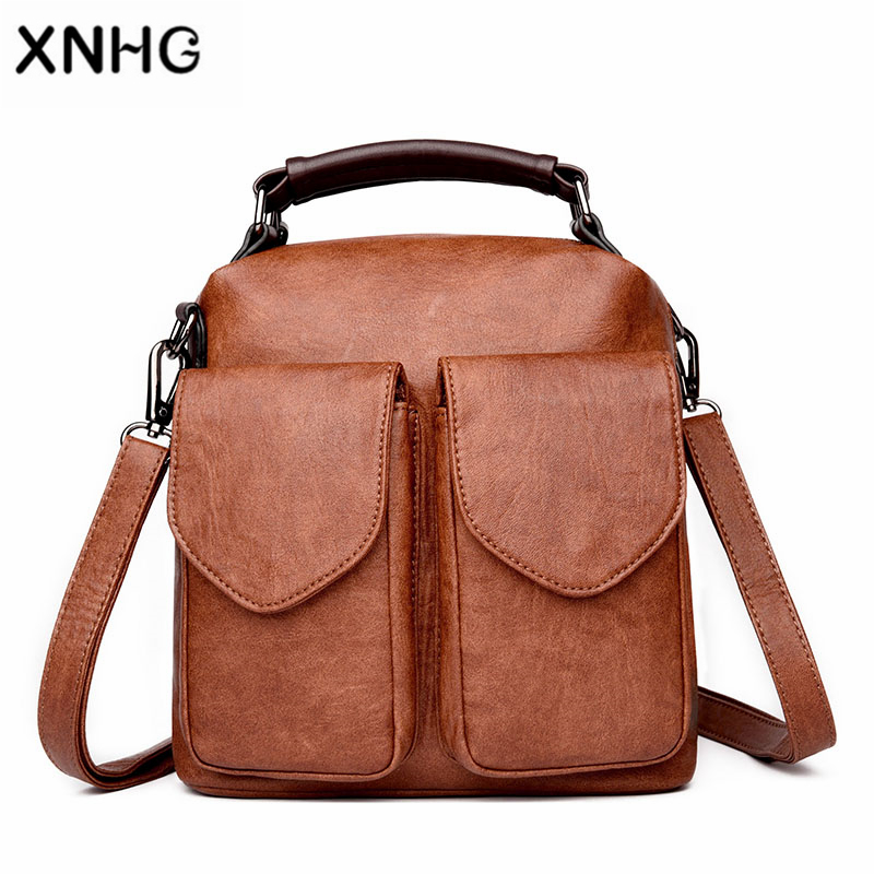 Classic Genuine Leathe Rucksack Travel Ladies Backpack Soft Handle Cow Leather School Bags For Teenage Girls Sac A Dos Homme