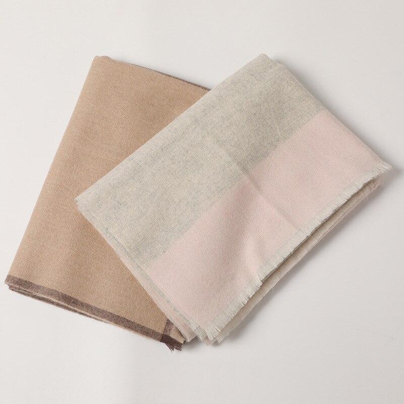 Новые модные 100% кашемировые женские шарфы в клетку, шаль из Пашмина с мелкими кисточками, розничная и оптовая продажа