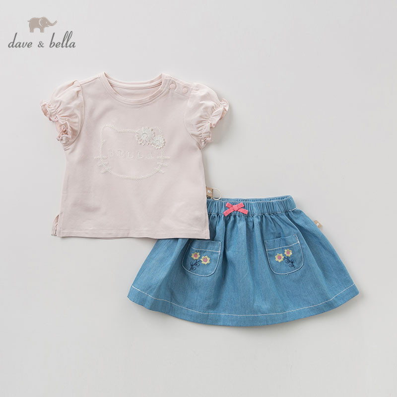 DB10514 dave bella summer baby girl fashion clothing sets girls lovely short sleeve suits children cat clothesDB10514 dave bella summer baby girl fashion clothing sets girls lovely short sleeve suits children cat clothes