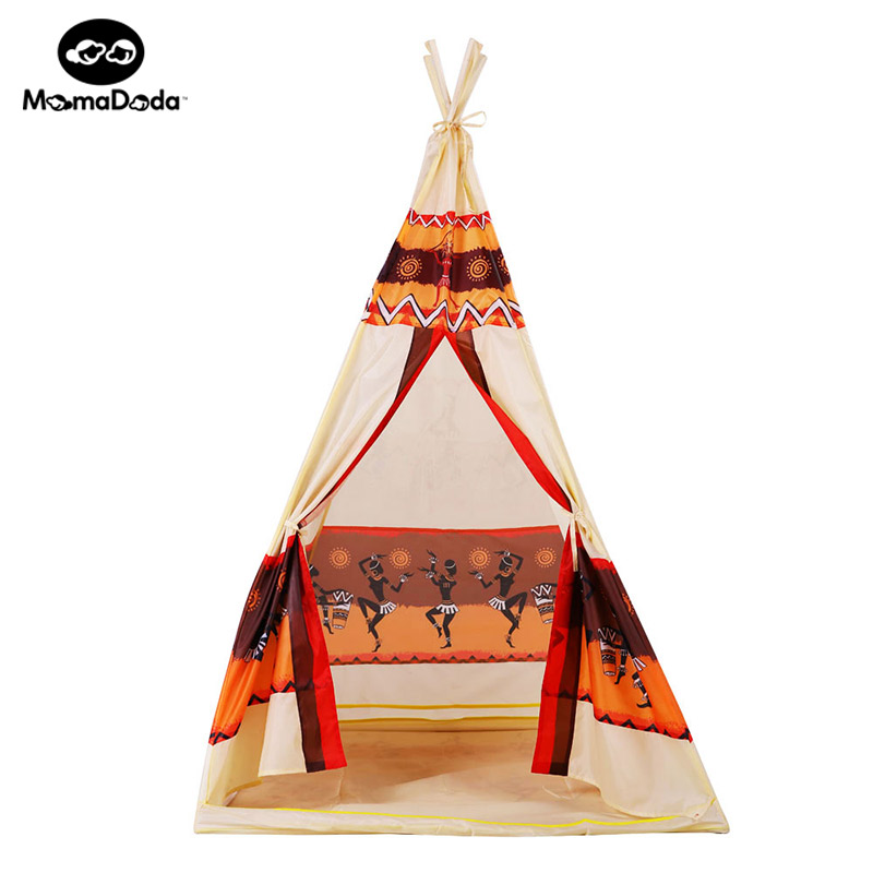 children indian toy teepee play tent portable playhouse decoration tipi kids indoor game room outdoor tourist playpen gift new arrival indoor outdoor large children s house game room children s toys 3 in 1 square crawl tunnel folding kid play tent