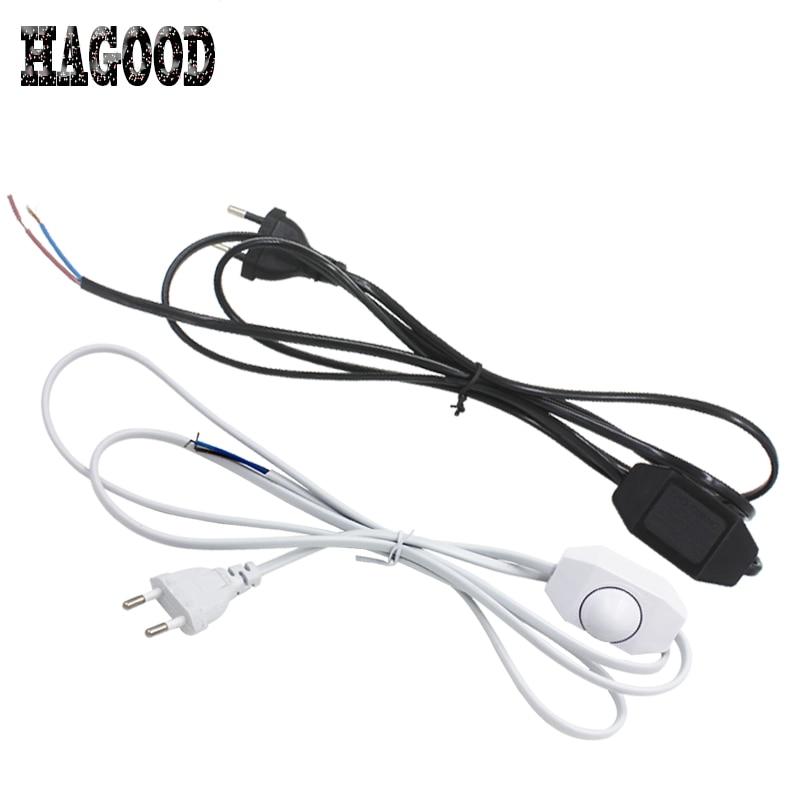 ∞Max 60W Dimming Wire Plug EU/US Plug 1.8m Length Blcak/White Wire ...
