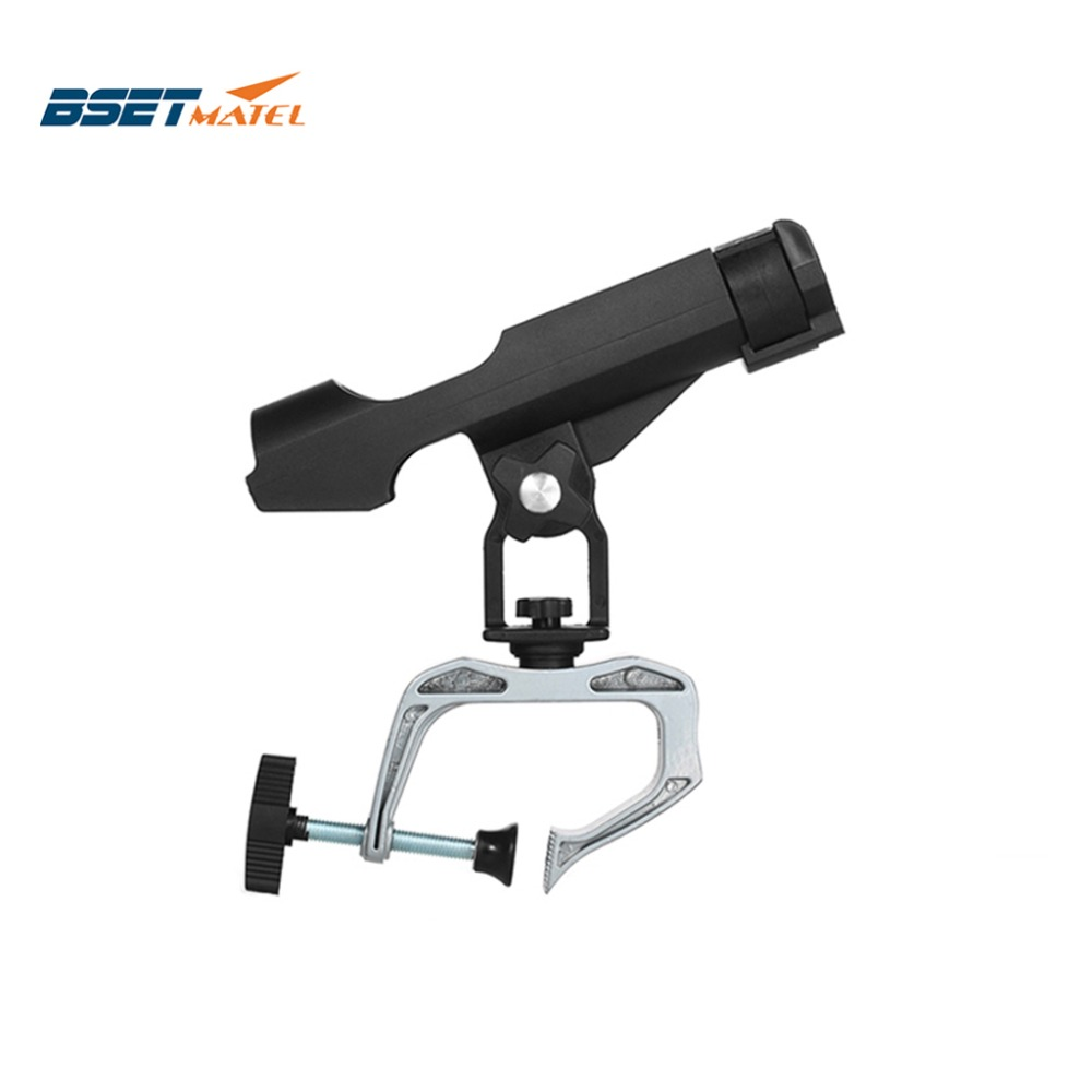 BSET MATEL Fishing Rod Holders Clamp On Adjustable Removable 360 Degree Kayak Boat Support Pole Stand Bracket