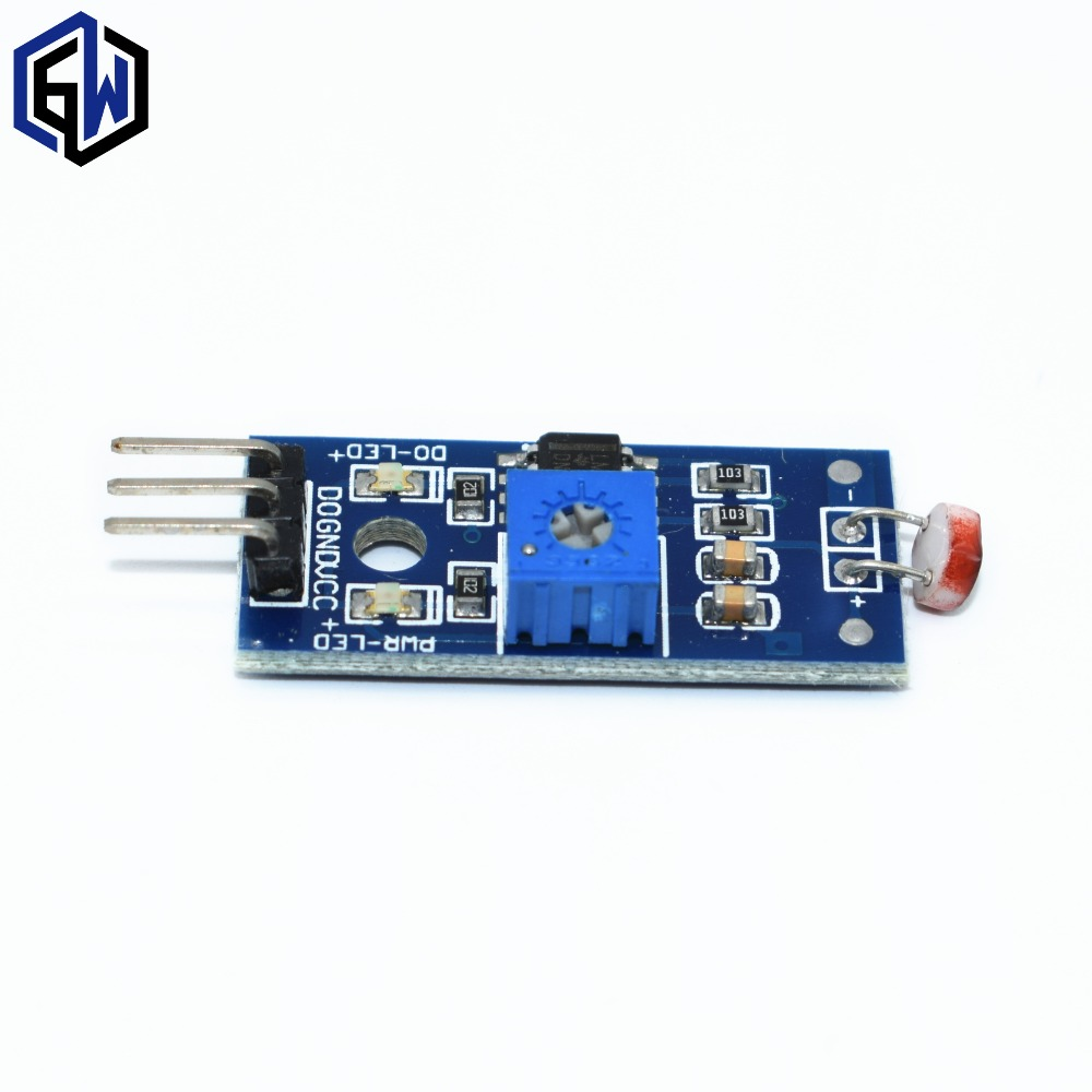 5Pcs Photosensitive brightness resistance sensor module Light intensity detect New