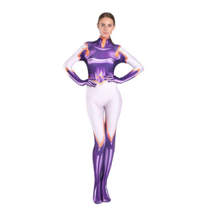 Image 1 - 3D Printing Spandex Mt.Lady Mount Costume My Hero Academia Cosplay Costume Halloween Party Zentai Bodysuit For Lady Girls Female