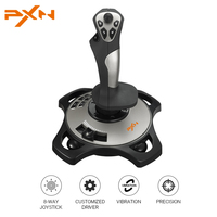 PXN 2113 4 Axles Flight Simulator Joystick Flight Stick Rocker Real Vibration Flight Game 8 Way