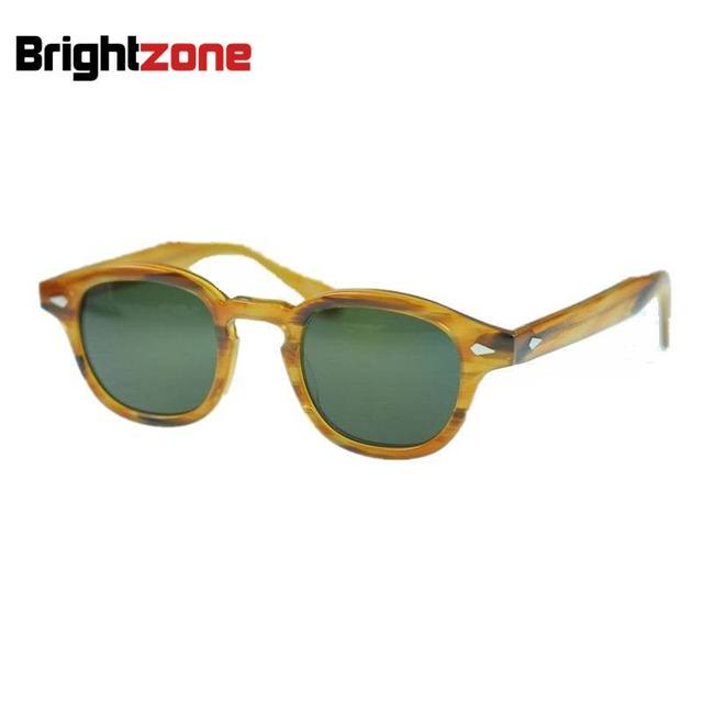 1625bb15dc7 Free shipping 2016 new arrivel Retro Vintage Johnny sunglasses Blonde frame  with Green Polarized lens for