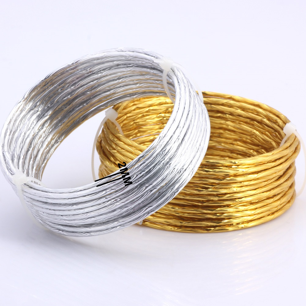 Defeedback Questions About Olingart 10m Lot 2 0mm Aluminum Wire Pattern Gold Silver Soft Craft Versatile Bendable Diy Handmade Jewelry Making 002 On