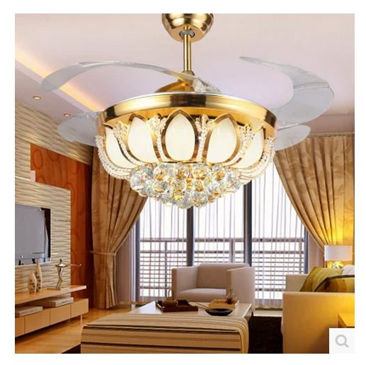 42inch LED Crystal Ceiling Fan Light Lamp Deluxe Ceiling