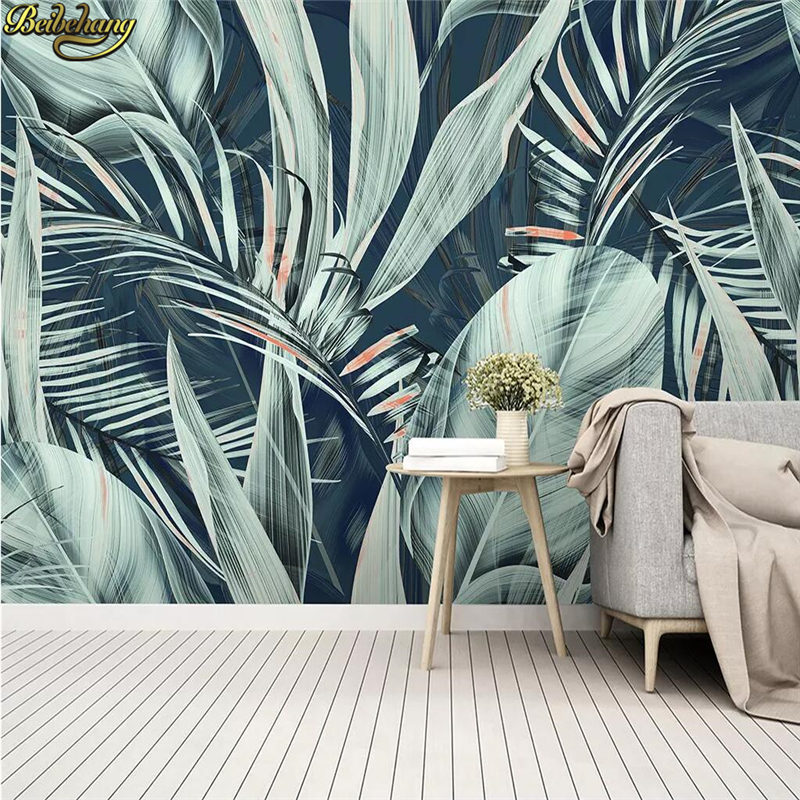 Beibehang Custom Medieval Tropical Flower Bedroom Wallpaper For Living Room Birds Background Photo Wall Paper Home Improvement