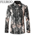 Men Shirt 2016 New Crocodile Print Men Shirts Autumn Fashion Casual Brand Long Sleeve Shirts CBJ-T0071