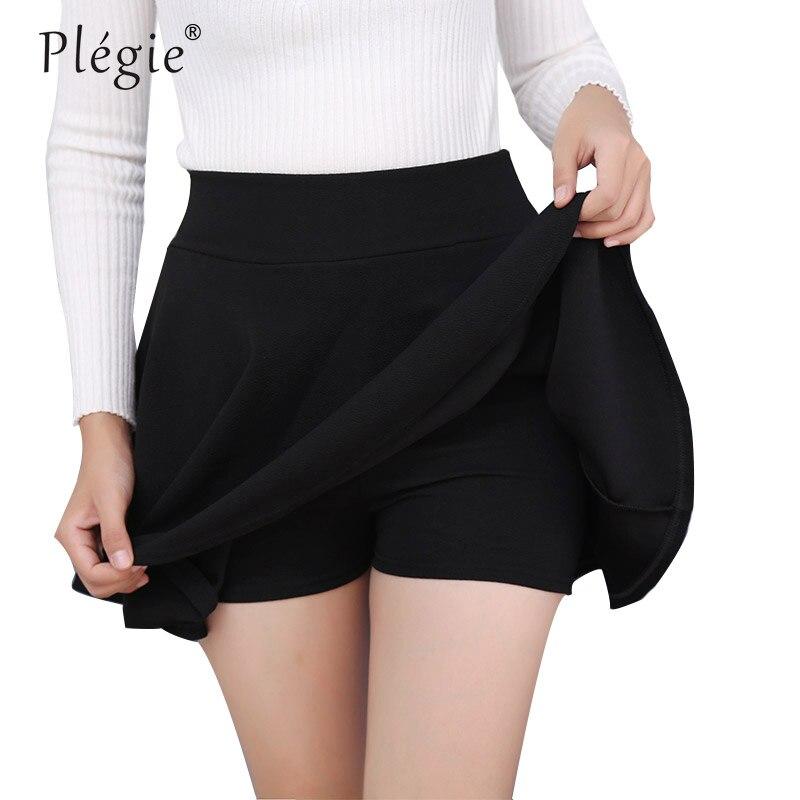 Plegie M-5XL saias das mulheres mais tamanho tutu escola saia curta calças adequadas para todo o ano mini saia de cintura alta faldas mujer