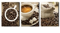 3 Pieces/set Coffee Wall Art Canvas Print Painting For Living Room Decor Home Picture Modular Painting On Canvas Unframed