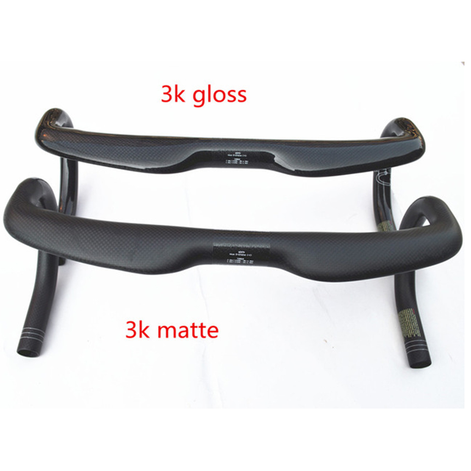 new full carbon fiber road bike bar Bicycle Handlebar cycling parts inner routing 3k finish 31.8*400/420/440mm full carbon fiber bicycle bike code table holder frame bicycle handlebar mount frame computer holder for red