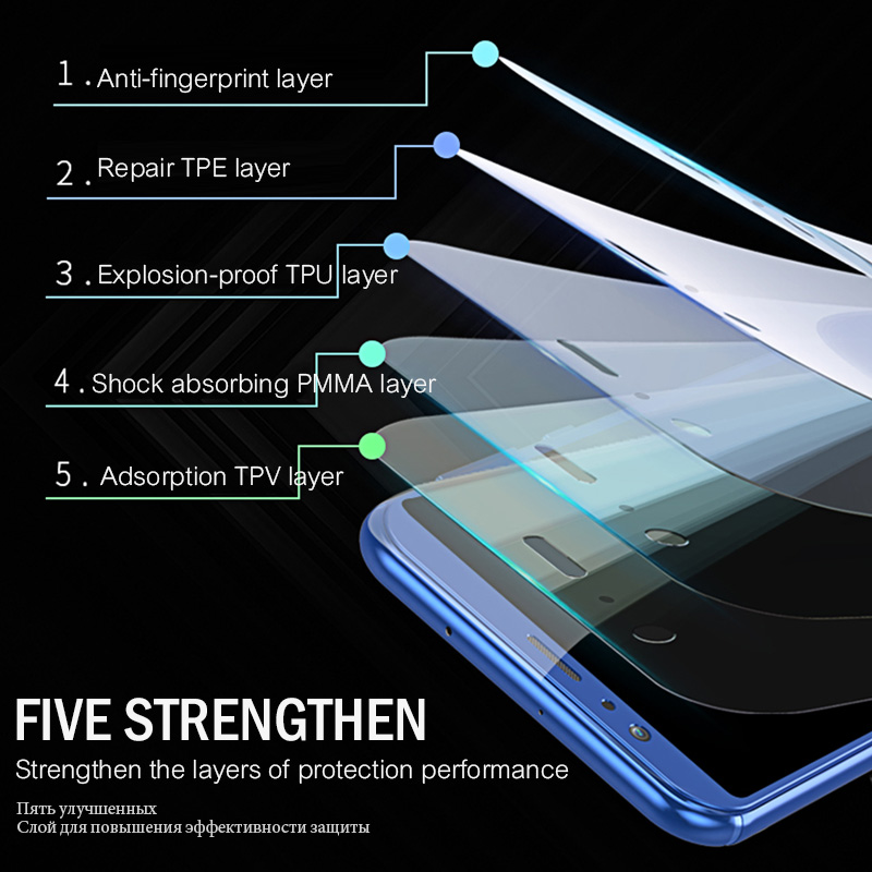 10D Full Screen Hydrogel Film For Redmi Note 7 6 Pro Screen Protector Film For Xiaomi Mi 9 Mi 8 Lite SE Mi 6 Mix 3 Max 3 Note 3 in Phone Screen Protectors from Cellphones Telecommunications