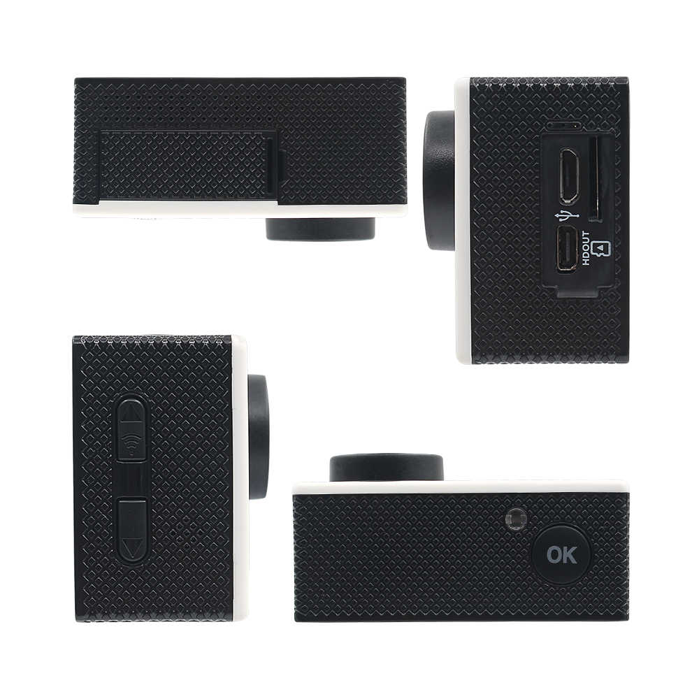 Ruiswin B6R Экшн-камера Ultra HD 4 K WiFi 1080 P Спорт 2,0 ЖК-экран Go Водонепроницаемая pro камера Спорт DV с пультом дистанционного управления