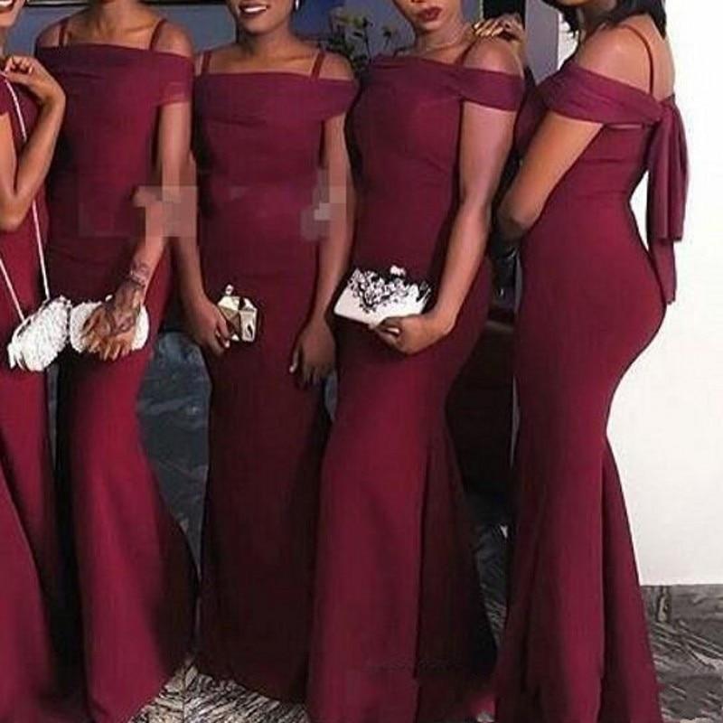 vestido de festa longo   Bridesmaid     Dresses   Burgundy Mermaid Long Burgundy   Bridesmaid     Dress   Custom Made Cheap Maid of Honor