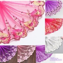 2Meter Colorful Elastic Lace Fabric Stretch Trim Stretchy DIY Craft for Sewing Embroidered Clothing 15-22cm Width