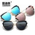 2017 Luxury Brand Дизайнер Cat Eye Óculos Женщины Солнцезащитные очки Поляризованные очки Ретро Старинные Очки óculos de sol женщина для