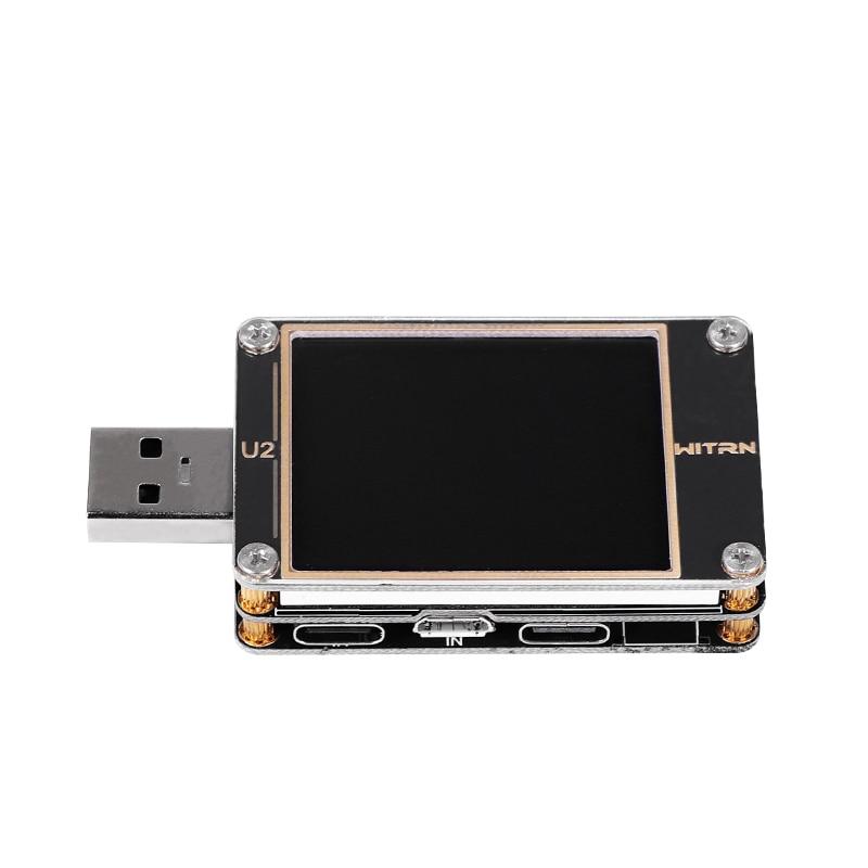Voltmètre de courant de testeur de couleur USB QC4 + PD3.0 2 PPS capacité de protocole de charge rapide compteur DC 1.77 pouces affichage HD