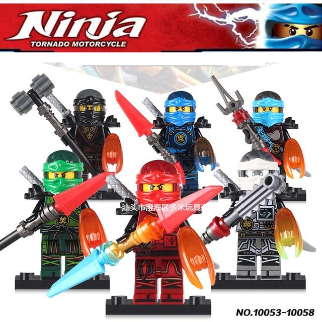 Us 799 6 Stücke Ninjago Cole Kai Jay Lloyd Nya Zane Zeit Klingen Bauklötze Fakten Spielzeug Kompatibel Mit Lego In 6 Stücke Ninjago Cole Kai Jay