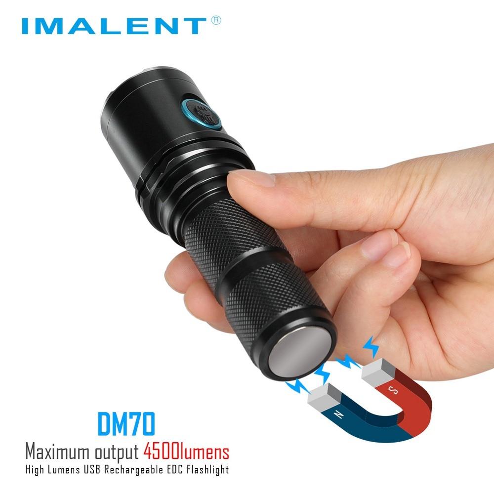 Işıklar ve Aydınlatma'ten LED Fenerler'de IMALENT DM70 şarj edilebilir el feneri OLED ekran Max 4500LM ışın mesafesi 306 metre açık meşale ile 21700 5000mAh ı ı ı ı ı ı ı ı ı ı ı ı ı ı ı ı ı ı ı ı pil title=