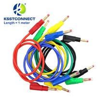 TL470G 5 Pcs 1.0 Meter Hoge Kwaliteit 13AWG2.5seq Mm Flexibele Siliconen Meetkabels 4 Mm Mannelijke Intrekbare Plug Stapelbaar Leads