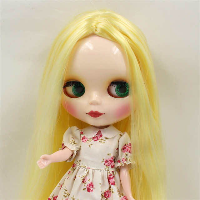 Factory Neo Blythe Doll Yellow Center Part Hair Regular Body 30cm