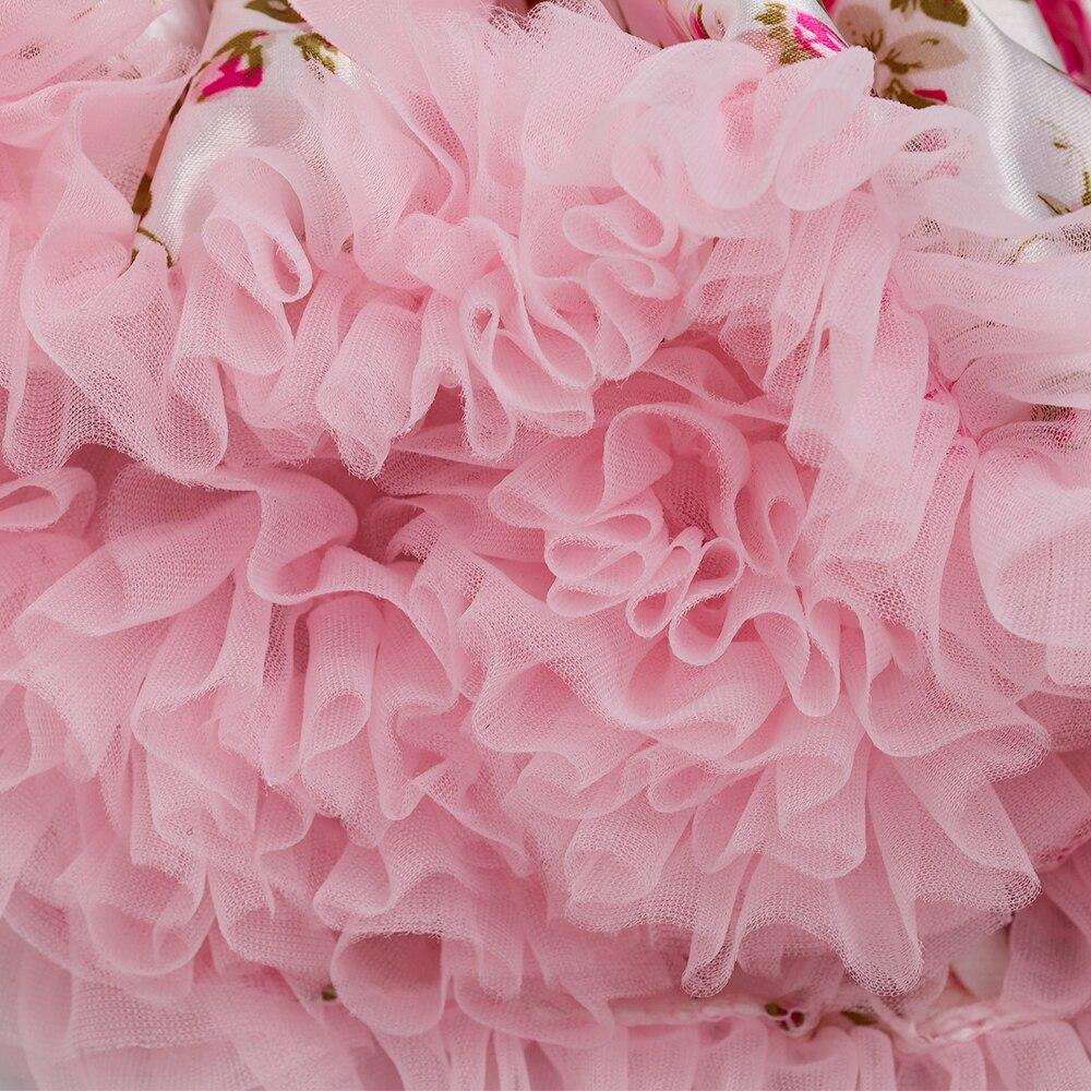 Rose Skirt Sets for Girl Clothing Body Pink Bodysuit with Ruffle Tutu Dress Infant Clothing Summer Seaside Holiday 4pcs/set