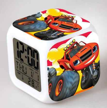 Api dan Mesin Rakasa Jam Alarm LED Digital Watch Reloj Despertador De Cabeceira Horloge Digital Anak-anak Mainan Hadiah
