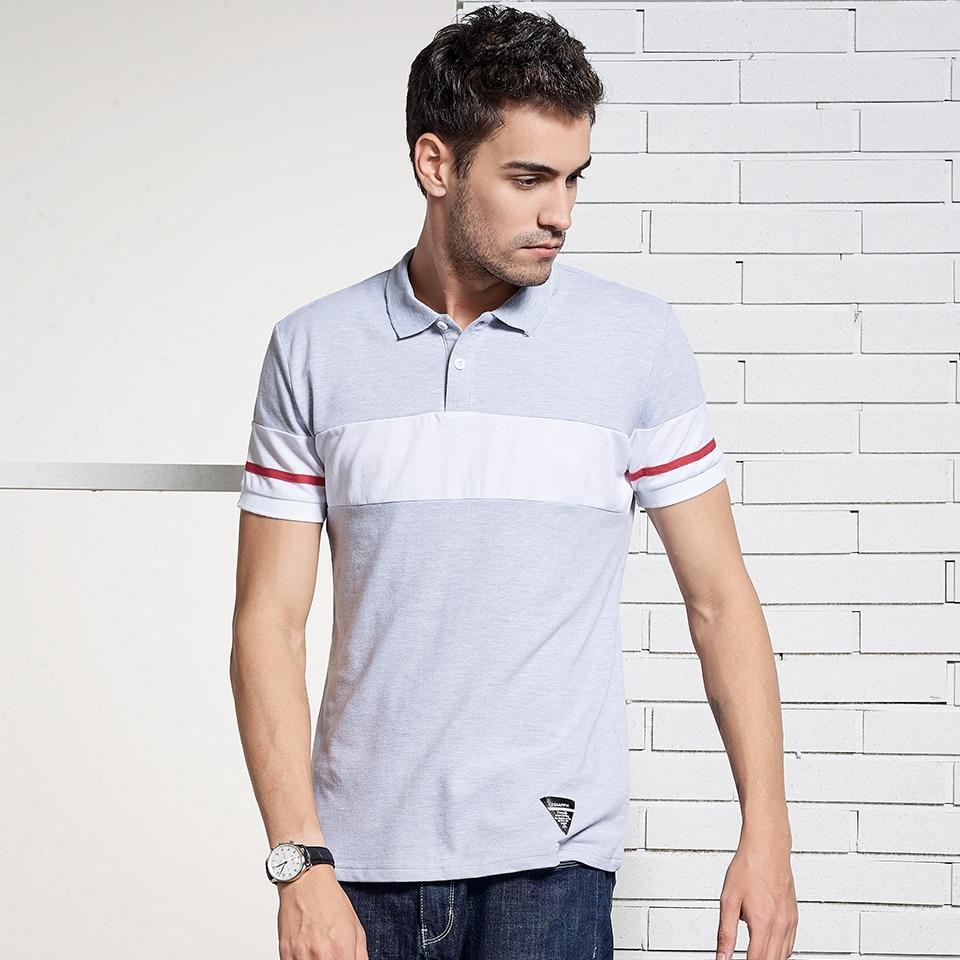 585c710f594 HTLB брендовая одежда новый Для мужчин рубашки поло 2018 Бизнес Повседневное  контраст Цвет Шорты рукавом дышащий 100% хлопок рубашки поло Для мужчин  купить ...