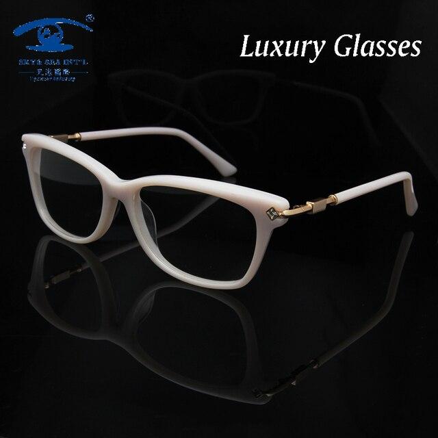 Оригинальное Качество Ручной Женщина Оправы для очков со Стразами Мода Очки Рамки для Женщин Очки Оптические óculos