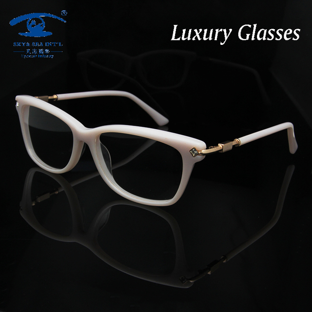 Original Quality Hand Made Woman Eyeglass Frames with Rhinestones Fashion Eye Glasses Frames for Women Glasses Optical oculos