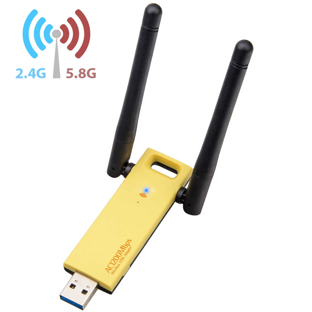 Dual Band USB Wireless Network Adapter AC1200 2.4Ghz//5.8GHz Dual Frequency 1200Mbps 802.11a //b//g//n Wireless Network Card Adapter with Drive CD 5dBi Antenna for Win XP//Vista//7