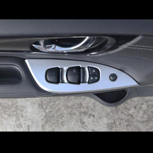 For NISSAN TIIDA 2016 2017 car styling Chrome Door Window glass Lift Control Switch Panel cover trim sktoo for kia sportage r window lifter switch assembly with the mirror fold the left front door glass levelers switch with high