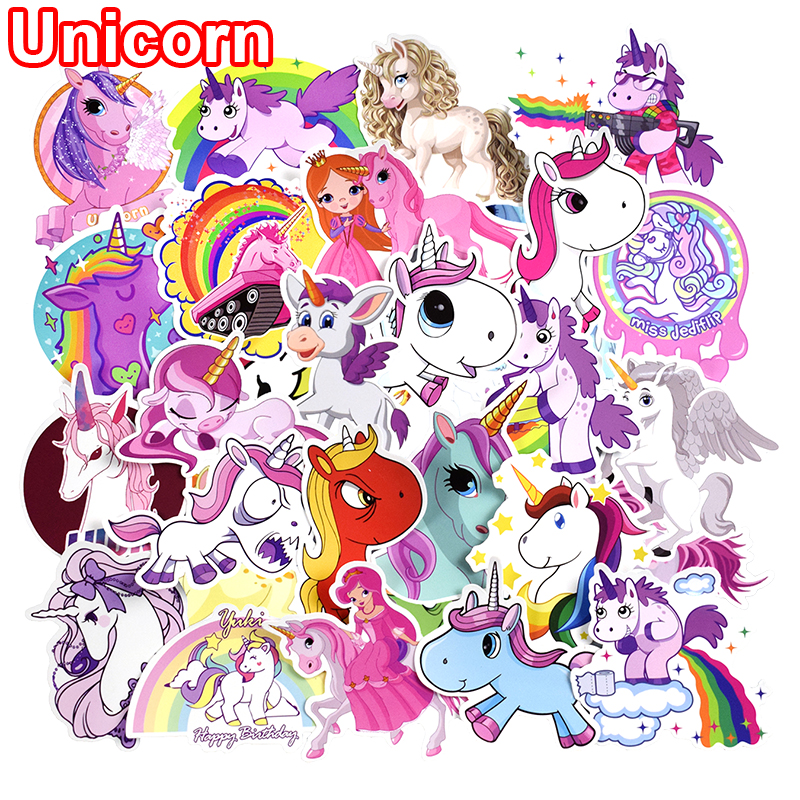 50-pcs-unicorn-stickers-for-laptop-skateboard-luggage-car-styling-bicycle-motorcycle-doodle-decals-cute-funny-waterproof-sticker