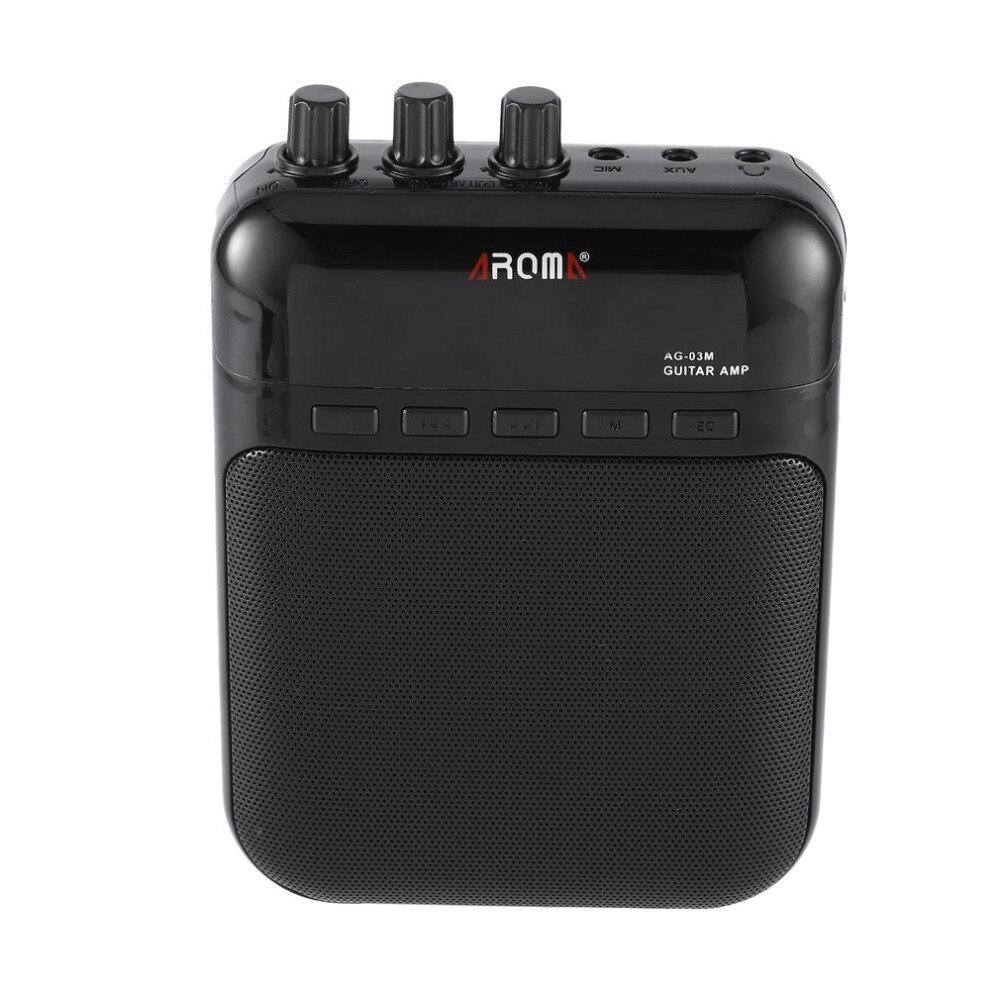 Guitar Amp Amplificador Multifuncional Gravador USB Rechargeable
