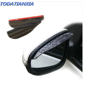 2020 hot 2pcs/lot car mirror rain eyebrow stickers for bmw e34 honda hornet 600 audi a3 8p toyota corolla verso ford c-max image